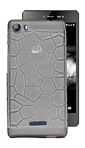 ECellStreet Exclusive Semi Transparent Stone Textured Back Case Cover Back Cover For Micromax Canvas 5 E481 - Grey  available at amazon for Rs.190