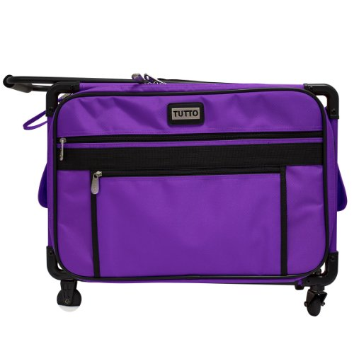 TUTTO Machine On Wheels Case-20X13X9 Purple (Sewing Machine Cart On Wheels compare prices)