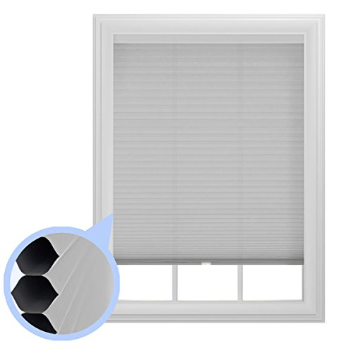 "9/16"" Trimmable Cordless Cellular Room Darkening Window Shade, 36-Inches by 64-Inches"