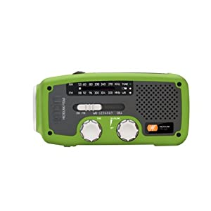 Etón Microlink Self-Powered AM/FM/NOAA Weather Radio with Flashlight, Solar Power and Cell Phone Charger