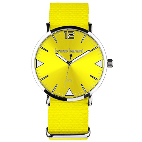 Bruno Banani BR30057 Cool Color Watch Unisex Analogue Air Band Metal 50 m Yellow