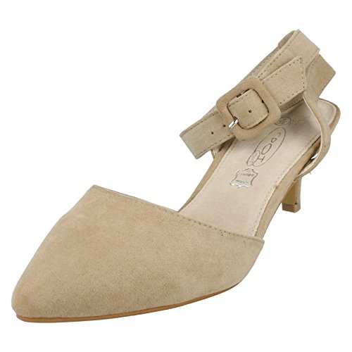 Spot On - Retro aperto donna , beige (Nude), 39
