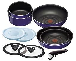 T-fal sapphire set 10. Taking pot frying pan set \