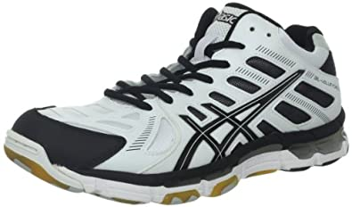 ASICS Men's GEL-Volleycross 4 MT Volley Ball Shoe,White/Black/Silver,8 M US