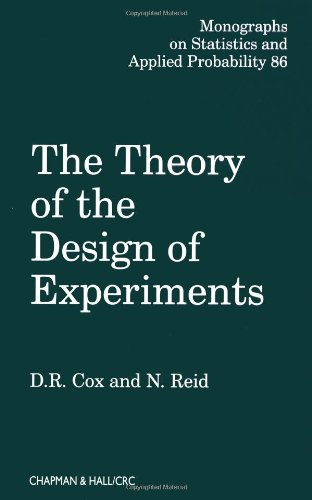 The Theory of the Design of Experiments (Chapman &...