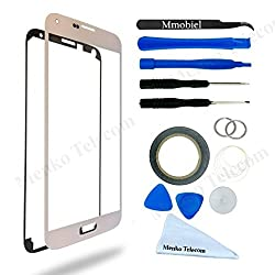 Samsung Galaxy S5 / S5 Neo White Display Touchscreen replacement kit 12 pieces incl tools / pre cut Sticker / cloth / suction cup / wire MMOBIEL