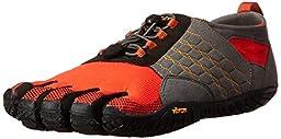 Vibram Men\'s Trek Ascent Walking Shoe, Grey/Red/Black, 41 EU/9-9.5 M US