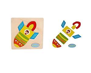 Culater® Juguete Educativo Del Bebé Embroma Desarrollo Rompecabezas De Madera