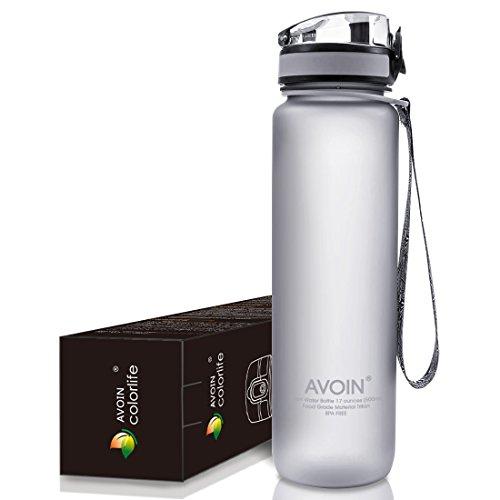 AVOIN colorlife Tritan プラスチック製スポーツウォーターボトル 500ml & 1000ml カラバリも豊富 BPA FREE
