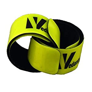 Vedante Super Reflective Pop Bands (Pair) in Sustainable Packaging (Yellow, Large)