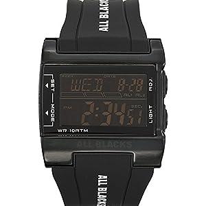 All Blacks - 680131 - Montre Homme - Quartz Digital - Cadran Noir - Bracelet Plastique Noir