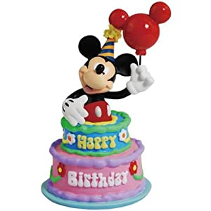 Amazon.com - Disney Mickey Mouse Figurine Inside Happy Birthday Cake