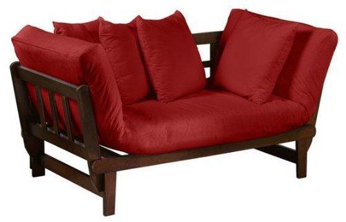 Mission style Convertible Lounge, CHESTNUT, WINE