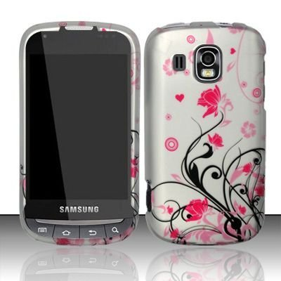 Samsung Transform Ultra M930 Accessory - Black vines & Pink Lotus Flower Design Protective Hard Case Cover for Sprint / Boost Mobile (Samsung Transform Ultra compare prices)