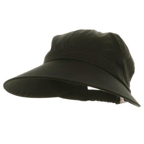 Ladies Large Brim Elastic Hat - Black W40S37E