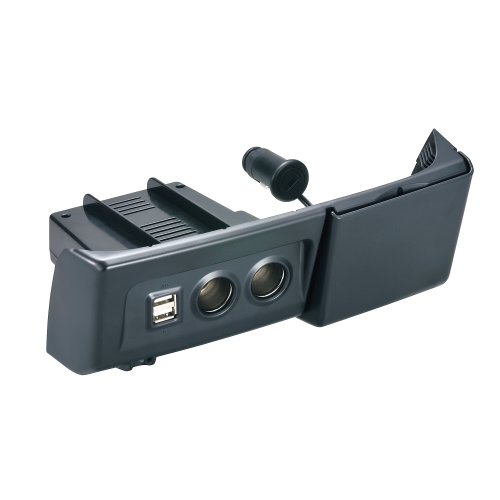 カーメイト(CARMATE) N BOX専用センターポケット取付 増設電源ユニット 2.1AUSB付 ブラック ブラック NZ537