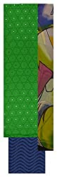 Punjaban Boutique Women's Cotton Unstitched Dress Material (Green and Blue)