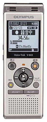 OLYMPUS ICレコーダー VoiceTrek 8GB MicroSD対応 V-843 シャンパンゴールド V-843 GLD