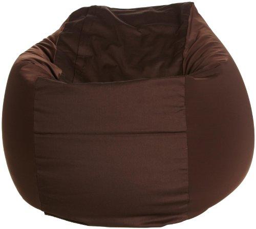 Beaded cushion CUBE L Brown