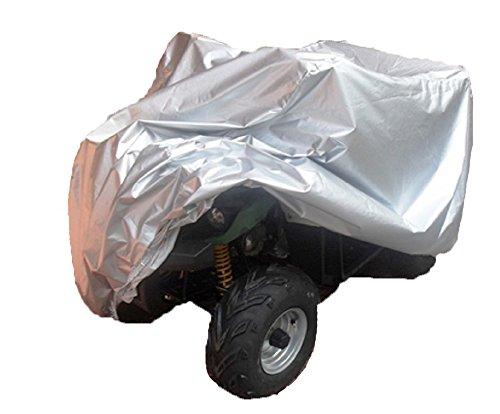 愛車を完全防御 ATV 四輪 バギー 用 トライク カバー シート  L サイズ シルバー