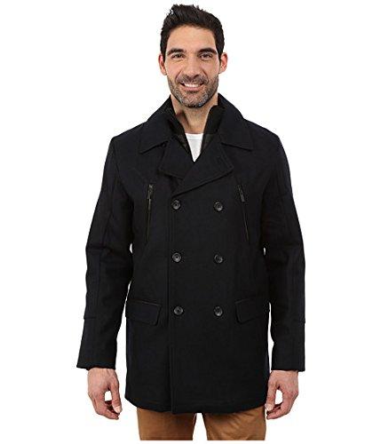 (カルバンクライン) Calvin Klein Wool Pea Coat with Bib & Chest Zip Detail Mens Solitaire メンズ 男性 用 服 ファッション アパレル コート アウター ジャケット [並行輸入品]