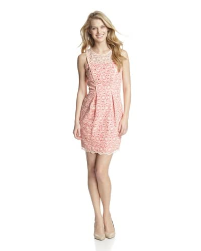 Jessica Simpson Women's Sleeveless Lace Dress  [Blush]