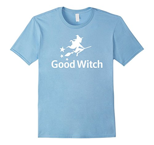 [Men's Good Witch Funny Broom Flying Halloween Costume T-Shirt Tee Medium Baby Blue] (Last Minute Halloween Costumes For Babies)