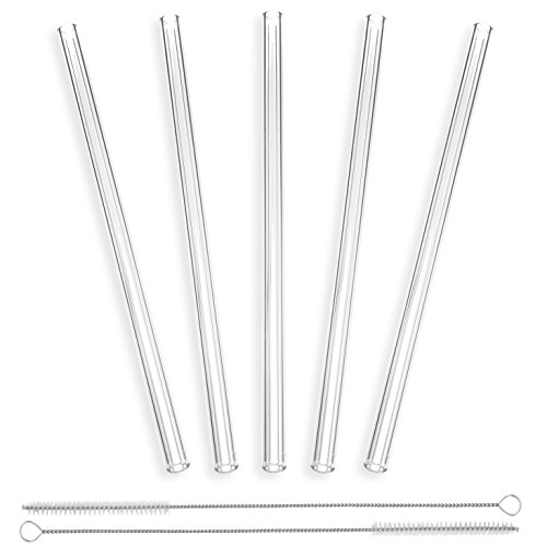 pajitas-de-cristal-rectos-y-transparentes-hechos-a-mano-de-23-cm-x-10-mm-paquete-de-5-con-2-cepillos