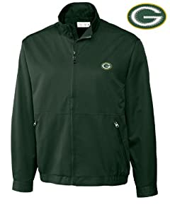 Green Bay Packers Jacket Mens Weathertec Whidbey Jacket Hunter by Cutter & Buck