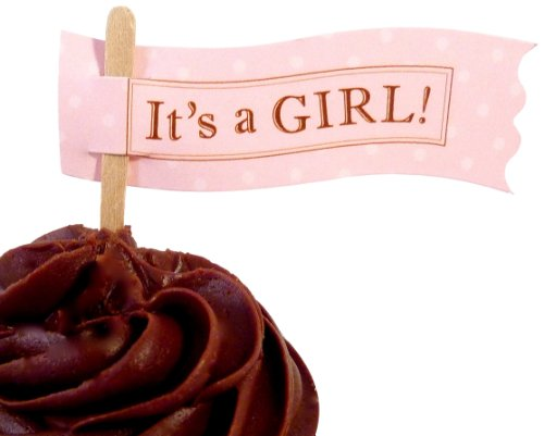 Bella Cupcake Couture 6-Pack It'S A Girl Cupcake Flag Picks front-353615