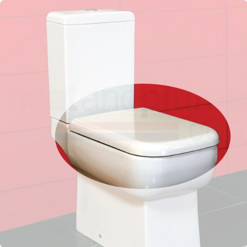 RAK Metropolitan Plastic Toilet Seat with Soft Close Hinge