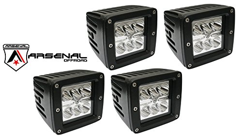 """3"""" Led Driving Light Dual D2 3X3 Atv Tractor Jeep Motorcycle Bike Boat Spot Pod Light Beam (Pack Of 4)"""