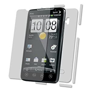 Skinomi TechSkin - Invisible Cell Phone Protector Shield Full Body Skin for HTC EVO 4G + LIFETIME REPLACEMENTS