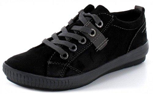 MARCO TOZZI donna semi scarpa Sneaker in colore nero con interno suola rimpicciolitore, Nero (nero), 36 EU