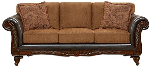 Chelsea Home Furniture Sheila Sofa, Wink Chestnut