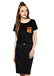 Raindrops Women's Top(1181B004D-Black-XL)