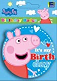 Peppa Pig Party Badge - It's My Birthday - New Blue Design