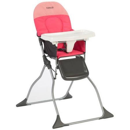 Find Bargain Cosco Simple Fold High Chair, Colorblock Coral