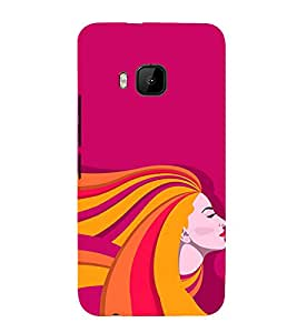 Clipart Girl 3D Hard Polycarbonate Designer Back Case Cover for HTC One M9 :: HTC M9 :: HTC One Hima