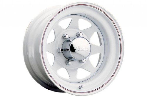 Pacer White Spoke 15x7 White Wheel / Rim 5x4.5 with a -6mm Offset and a 83.82 Hub Bore. Partnumber 310W-5712 (97 Ford Ranger 15 Inch Rims compare prices)