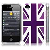 iPhone 4S / iPhone 4 'Cool Britannia Purple' (Designed by Creative Eleven) TPU Gel Skin / Case / Cover -by Activ8 Distribution Ltd