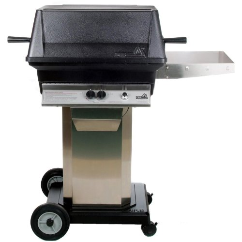 PGS Gas Grills A30 Cast Aluminum Natural Gas Grill On Stainless Steel Portable Pedestal Base