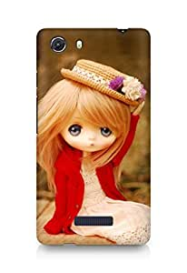 Amez designer printed 3d premium high quality back case cover for Micromax Unite 3 (Stylish Little Doll)
