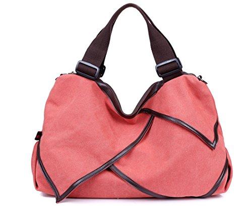 Szstudio Hot Autumn Winter Korean Lotus Large Canvas Handbag Shoulder Bag Portable Ipad Travel Satchel Bag