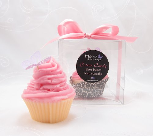 Cotton Candy Soap Cupcake