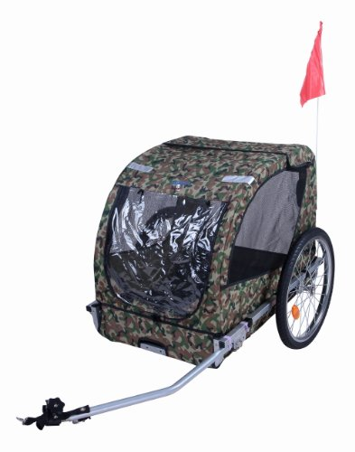 Camouflage Pet Bike Trailer Dog Stroller Cat Carrier Bicycle