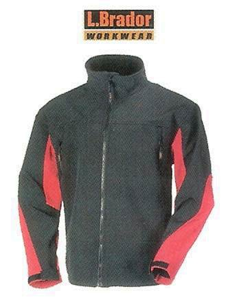 L Brador Workwear Softshell Jacket Black/Red Large