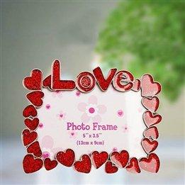 Romantic Heart Design Square Photo Frame front-618627