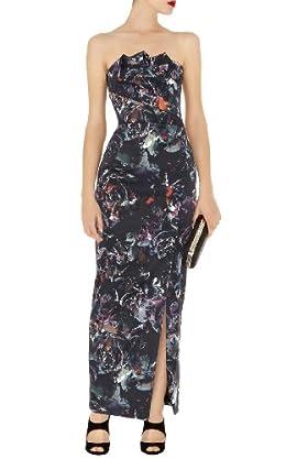 Gothic Rose Print Maxi Dress