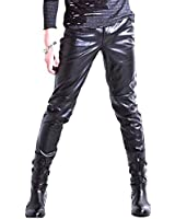Magiftbox Men's PU Leather Skinny Pants